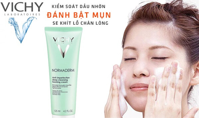 Sữa rửa mặt ngăn ngừa mụn VICHY Normaderm Anti-imperfection Deep Cleansing Foaming Cream 3